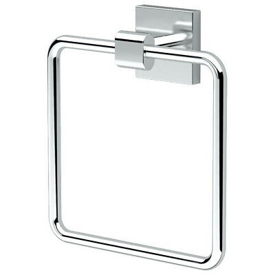 chrome towel ring shower bath room hanging rack robe hook holder wall accessory