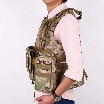 Sports Waistcoat Tactical Airsoft Molle Combat Plate Carrier Vest Comfortable