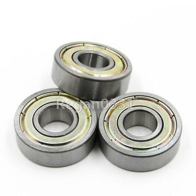 10 pcs 6000ZZ Deep Groove Metal Double Shielded Ball Bearing 10mm x 26mm x 8mm