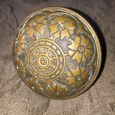 Antique Victorian Hopkins & Dickinson Vernacular Solid Heavy Brass Door Knob. #C