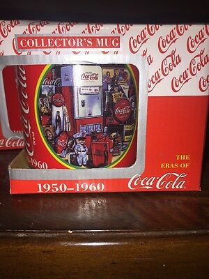 Coca Cola Coffee Mug Cup Coke Eras 1950-1960 Collectors Edition Mug NIB