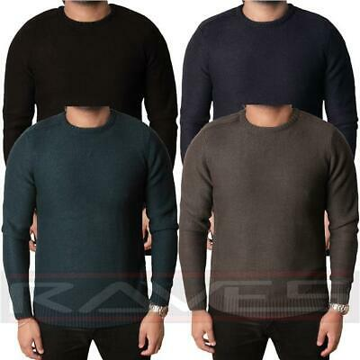 Mens Kensington Eastside Jumper Sweater Pullover Winter Crew Neck Knitwear IKAR