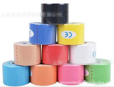 1 Roll 5 Size Elastic Physio Therapeutic Kinesiology Sports Tape Muscles Care