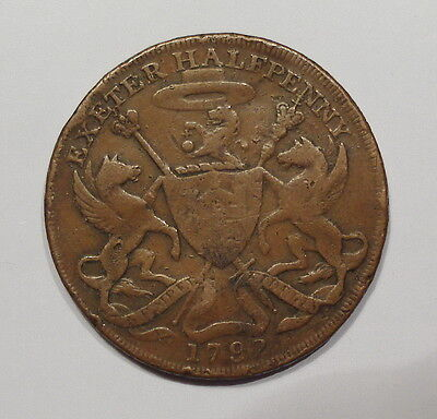 Great Britain 1792 Exeter 1/2 Penny Conder Token