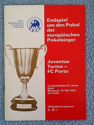 1984 - CUP WINNERS CUP FINAL PROGRAMME - JUVENTUS v PORTO - V.G CONDITION
