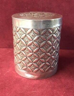 Beautiful Vintage 925 Sterling Silver Canister 3.4 Oz Silver