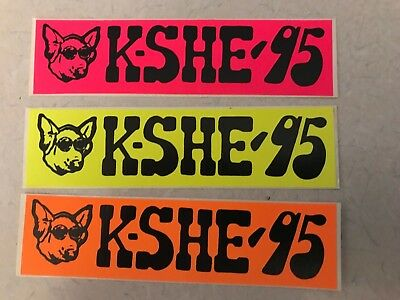 KSHE 95 Real Rock Radio Vintage (Mini) Bumper Sticker