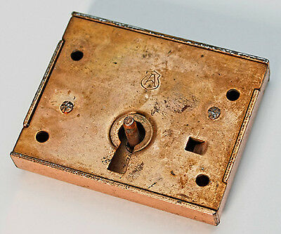 Antique Copper Full Mortise Lock & Keyhole Cover
