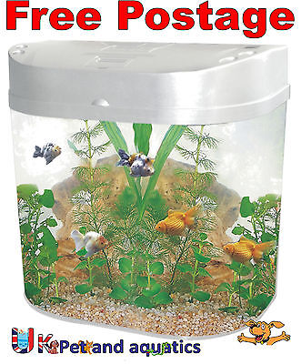Fish R Fun, Bow Front Fish Tank Silver 20L Kit