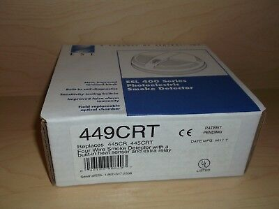 Esl 449Crt Four Wire Photoelectric Smoke Detector/heat Sensor