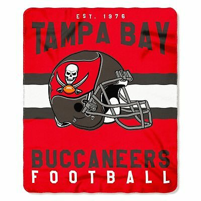 "NFL Tampa Bay Buccanneers Singular Design Soft Fleece Throw Blanket 50""X60"""