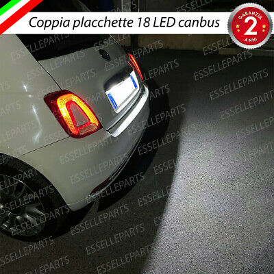 Placchette Plafoniere Complete Luci Targa Led Fiat 500 500 C 500C Abarth Canbus