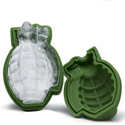 Grenade Shape 3D Ice Cube Mold Maker Bar Party Silicone Trays Mold Mold