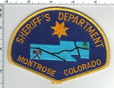 Montrose Sheriff's Department (Colorado) Shoulder Patch - new from the 1980's
