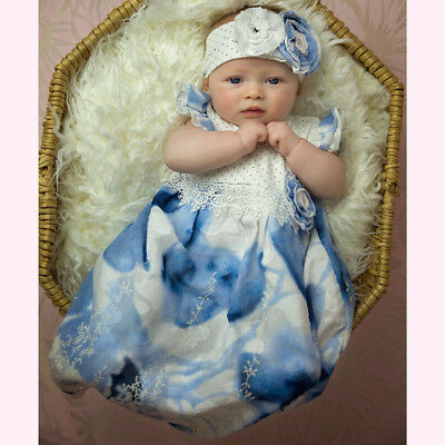 Haute Baby Boutique Newborn Girls Heirloom take-me-home Gown SUMMER SONG