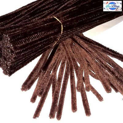 Brown Chenille Stems 30cm Craft Pipe Cleaners for Craft - Packs of 20 to 100