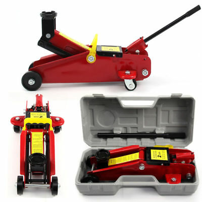 2 Ton Tonne Trolley Floor Jack Car Van Hydraulic Lifting With Case