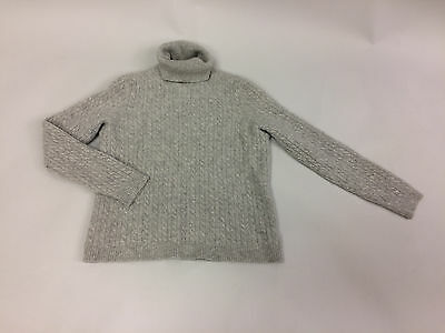 Charter Club Light Gray Child's 100% 2-ply Cashmere Crewneck Sweater, size M
