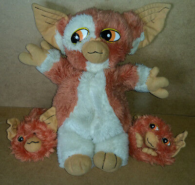"Gremlins 2 The New Batch Mogwai Gizmo + 2 Babies - 13"" - Soft Toy / Plush - 1991"
