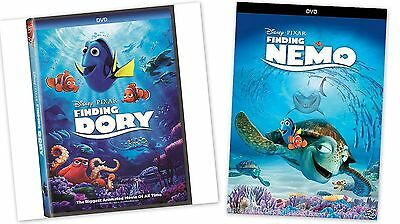 2 PACK -  Finding Dory + Finding Nemo (DVD, 2016) ANimation, Kids NOW SHIPPING !
