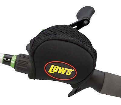 Lews Lew's Baitcast Reel Cover Black 4mm Neoprene For Most Low Profile Reels NEW
