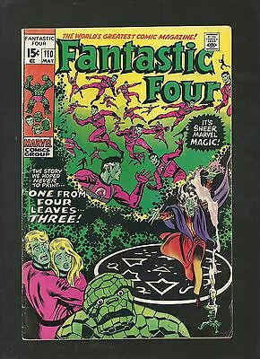 Fantastic Four #110 VINTAGE RARE Error Cover Green Thing Marvel Silver Age FN