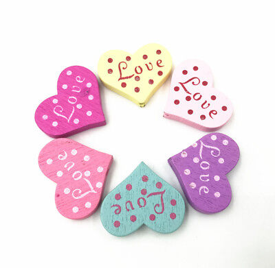 Wooden Beads Mix dot Heart-shaped Spacer Beading DIY Kids Jewelry Accessories