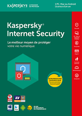 Kaspersky Internet Security 2019 1 PC / 1 AN Multi-Device