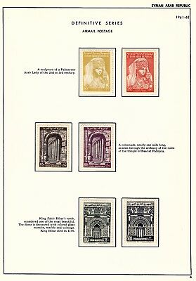 Syria - 1961-64 - SC 420A-66, C253-336 - NH on pages