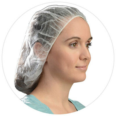 100 Bouffant Caps Hair Nets  BC21 Food Service Housecleaning Medical Painting