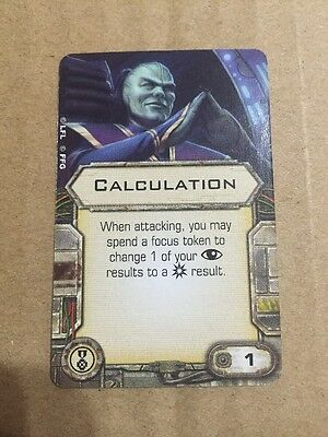 Star Wars X-wing Upgrade Card - Calculation