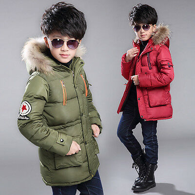 Baby Boys Parka Winter Jackets Warm Clothes Thick Cotton Down Kid Jacket Outwear