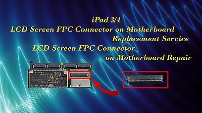 iPad 3 iPad 4 LCD Screen FPC Connector on Motherboard Replacement Repair