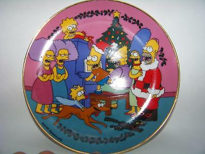 Caroling With The Simpson Limited Edition Fine Porcelain Christmas Plate M2323