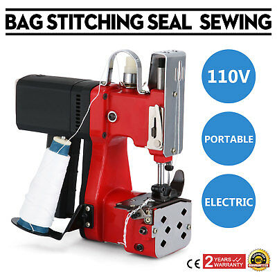 Industry Electric Bag Sewing Machine Sealing Portable 110V Sack Stitching Closer