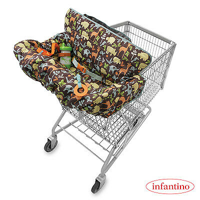 Baby Cart Cover by Infantino | Compact Seat for Kids | Adjustable Safety Harness
