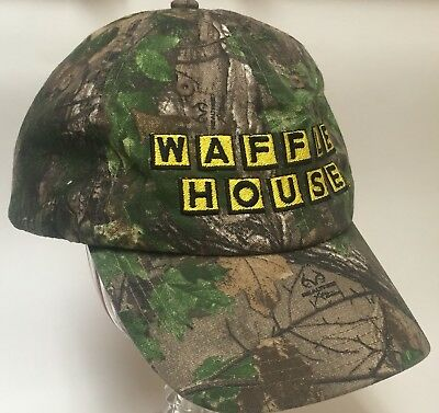 Waffle House Realtree Camo camouflage Hat Cap Men's One Size Fits Most EUC