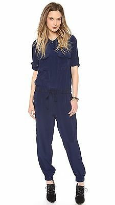 """Hatch Collection """"The Jumpsuit"""" Slouchy Maternity One-Piece in Navy Blue Sz 2 M"""