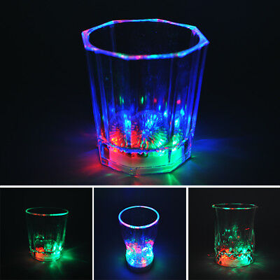 Hot Flashing LED Wine Glass Light Up Barware Drink Cup For Party Wedding Decor