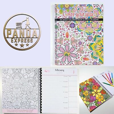 Coloring Planner Calendar 2017 School Year Adult Daily Organizer Personal Full