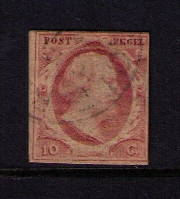 Netherlands Classic Stamp ,SC # 2  Used, Cat.$27