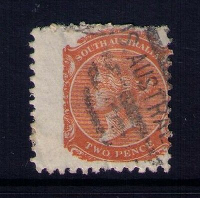 "South Australia QV Stamp ,Sc# 62, ""Wing"" Copy,Perf.10 Used, CV:$40"