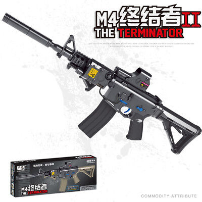 JM M4 Mag-Fed Gel Ball Submachine Gun Terminator Water Toy  Electric