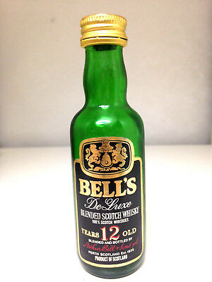 Bell's Deluxe 12 Year Old Scotch Whisky Rare 1970's Miniature
