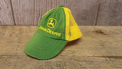 Baby Infant John Deere Mesh Trucker Baseball Cap Hat Yellow Green Adorable