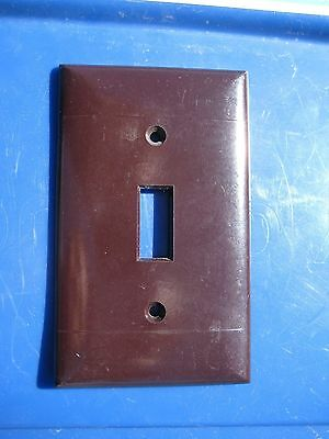 Vintage SIERRA ELECTRIC Dark Brown 1-Gang Switch Toggle Wall Plate Set of 1 USA
