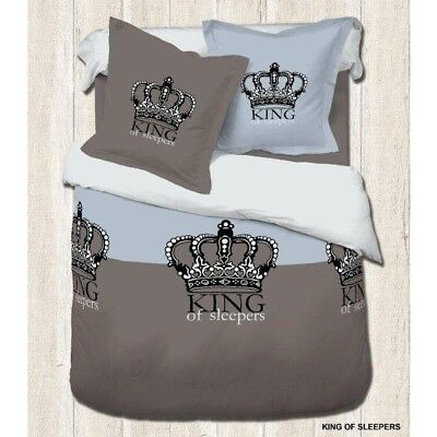 Parure Housse de couette 220x240 cm Adulte King Of Sleepers + 2 Taies neuf