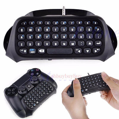 New PS4 Bluetooth Wireless Keyboard Keypad Chatpad F PlayStation 4 Controller 0P