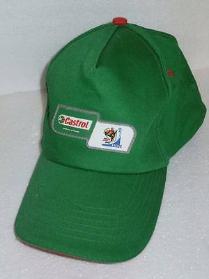 Fifa World Cup Of Soccer South Africa 2010 Green Promo Baseball Hat Castrol Oil