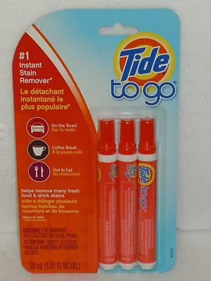 Tide To Go #1 Instant Stain Remover Lot 5 Packs of 3 Portable Pens (15 Total)